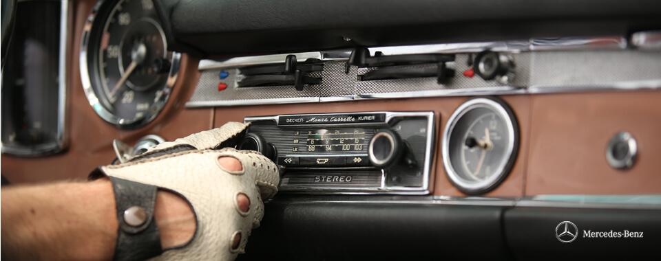 Slider 14 innen Becker Radio Beckerradio Mercedes-Benz 250SL 250 280SL 280 SL Pagode Pagoda W113 113 bronze | Nostalgic Oldtimerreisen