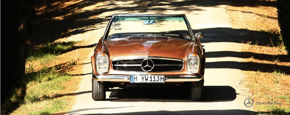 Slider 15 Mercedes-Benz 250SL 250 SL W113 113 Pagode Pagoda bronze Toskana | Nostalgic Oldtimerreisen