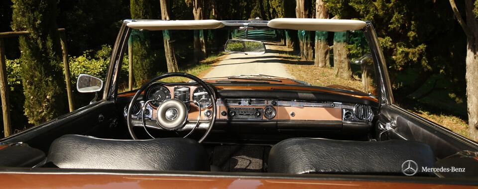 Slider 17 Mercedes-Benz 280SL 280 SL Pagode Pagoda W113 113 bronze Toskana tuscany| Nostalgic Oldtimerreisen