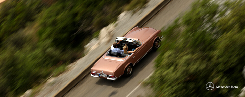 Slider 24 Mercedes-Benz 300SL 300 280SL 280 SL W113 113 Pagode Pagoda bronze | Nostalgic Oldtimerreisen