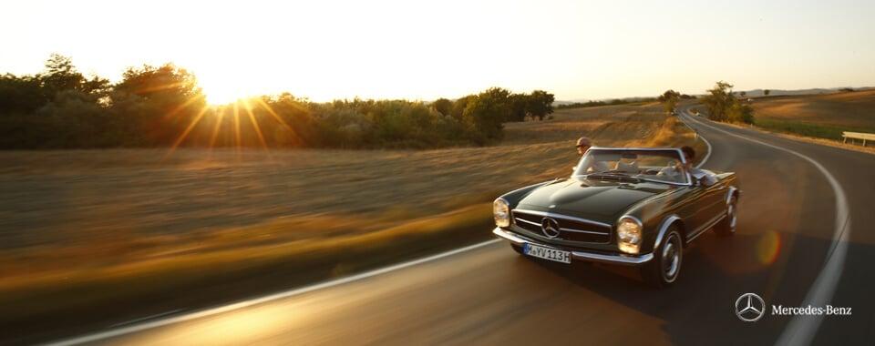 Slider 27 Mercedes-Benz 280SL 280 SL Pagode Pagoda W113 113 grün green Toskana tuscany| Nostalgic Oldtimerreisen