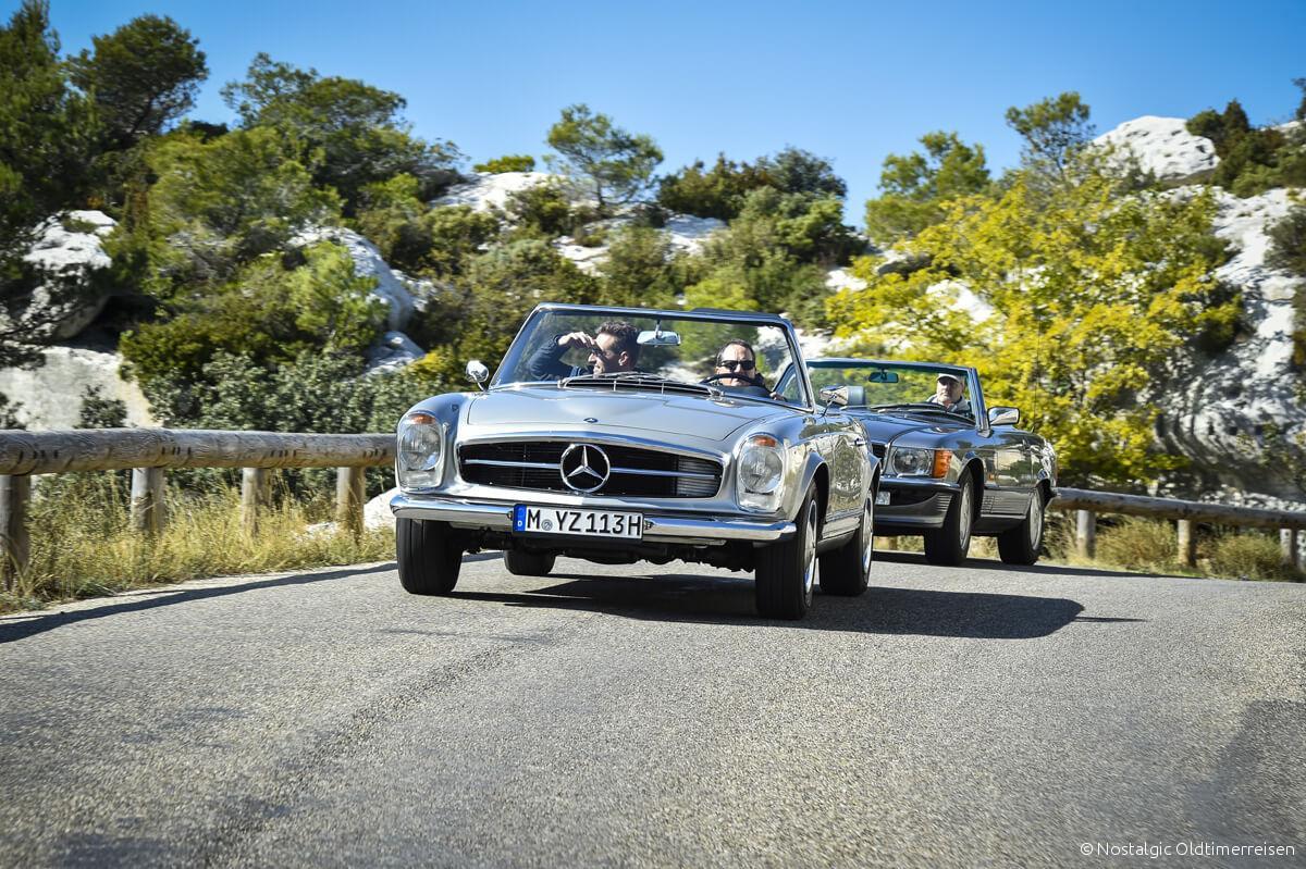Mercedes-Benz 230SL 230 SL W113 113 Pagode Pagoda 300SL 300 W107 107 Provence | Nostalgic Oldtimerreisen