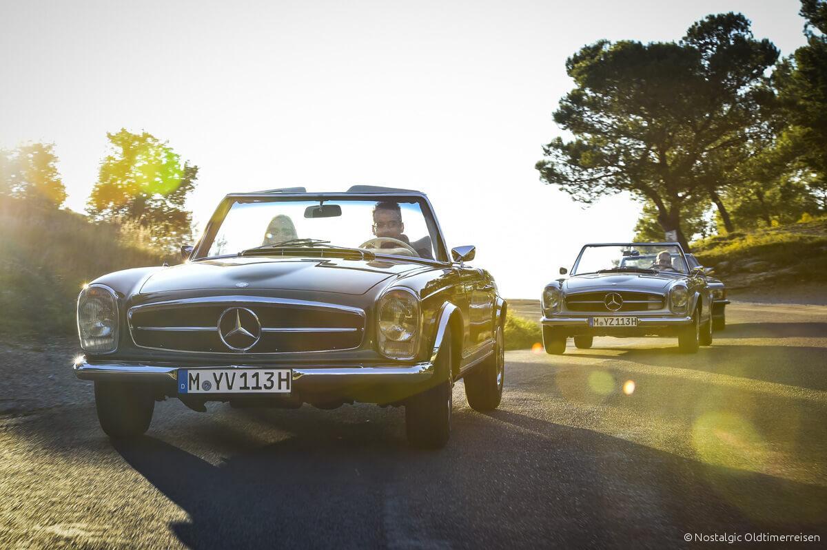 Mercedes-Benz 280SL 280 SL 230SL 230 W113 113 W107 107 Pagode Pagoda Provence | Nostalgic Oldtimerreisen