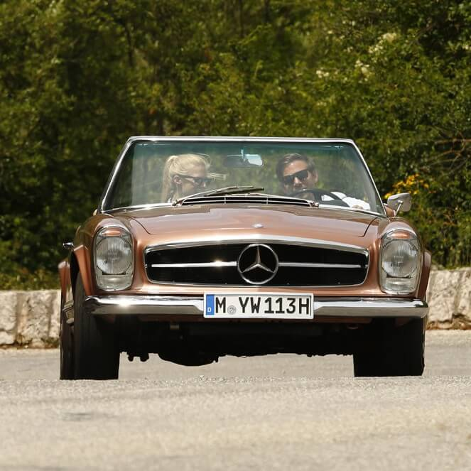 Mercedes-Benz 250SL 250 SL W113 113 Pagode Pagoda bronze Provence | Nostalgic Oldtimerreisen