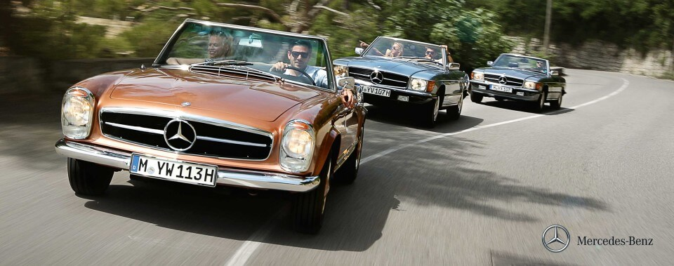 Sliderbild 05 Mercedes-Benz Pagode Pagoda W113 113 W107 107 SL |Nostalgic Oldtimerreisen