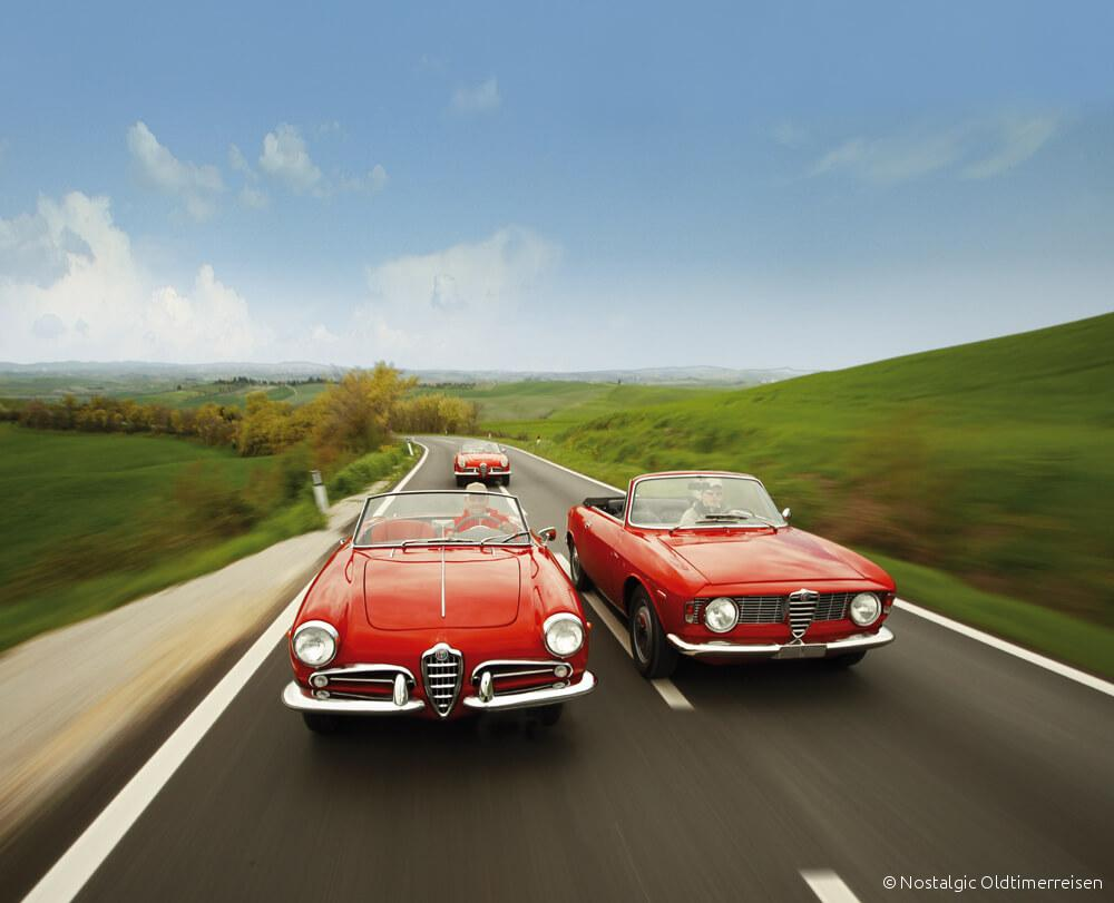 Alfa Romeo Spider 2600 GTC Giulia Giulietta Toskana | Nostalgic Oldtimerreisen