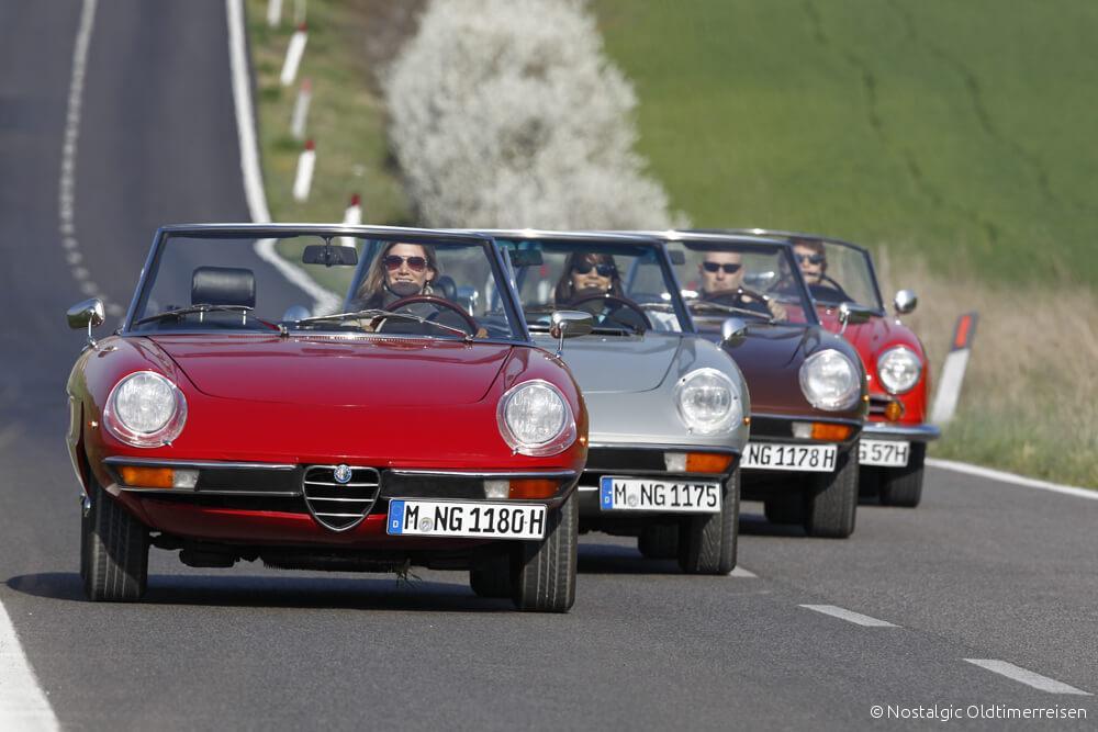 Alfa Romeo Spider duetto Giulia Toskana | Nostalgic Oldtimerreisen