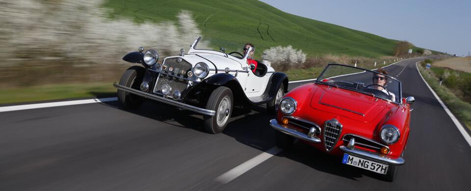Alfa Romeo Quattroruote Giulia tuscany Toskana | Nostalgic Oldtimerreisen