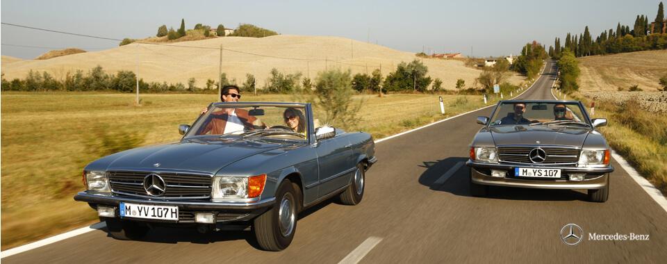 Slider 6 Mercedes-Benz 280SL 280 SL 300SL 300 W107 107 Toskana | Nostalgic Oldtimerreisen