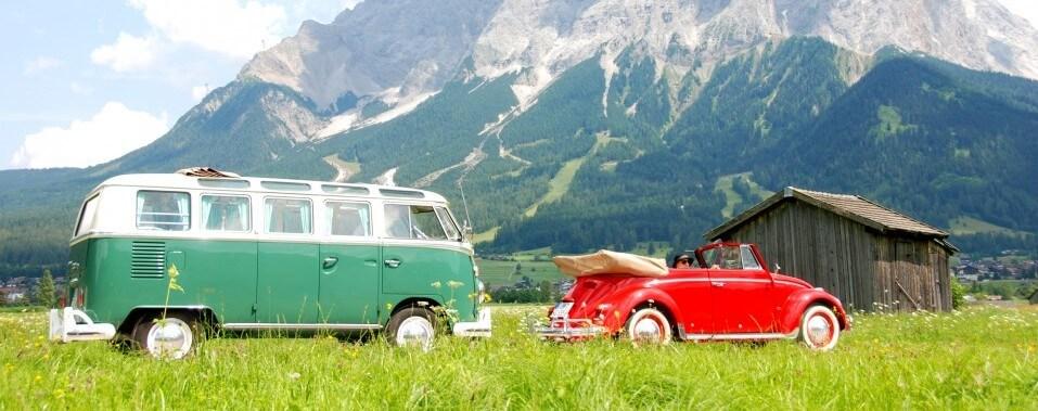 Lermoos Shooting Juli 2014 VW Volkswagen Samba Bus Käfer Cabrio 1200 | Nostalgic Oldtimerreisen
