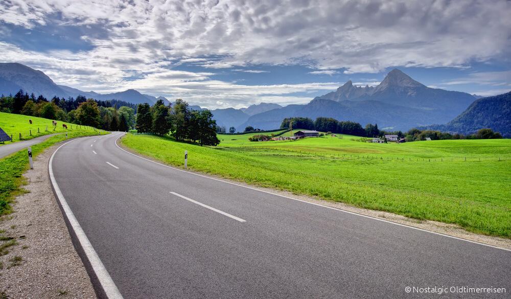 Berchtesgaden Alpen Panorama Oberbayern | Nostalgic Oldtimerreisen