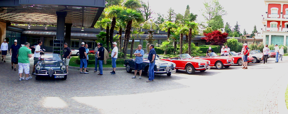 Lago Maggiore Alfa Romeo Giulia Spider | Nostalgic Oldtimerreisen