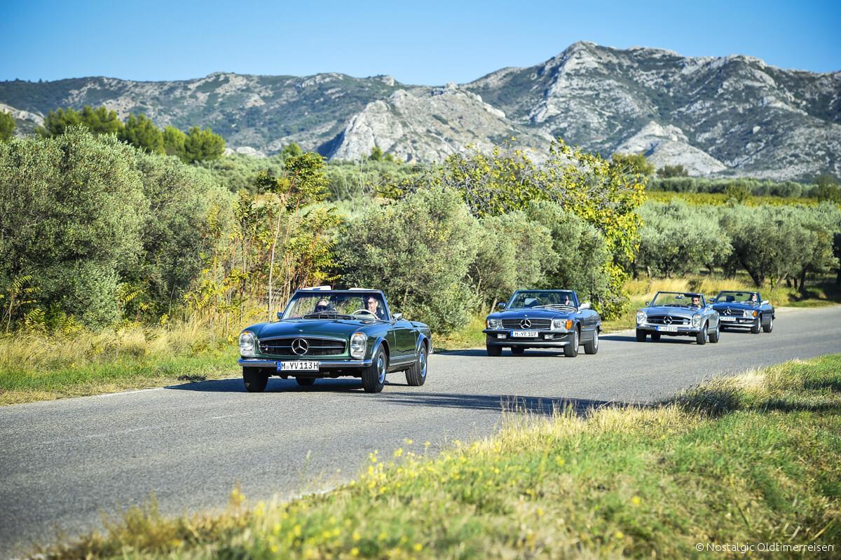 Mercedes-Benz 230SL 230 280SL 280 SL W113 113 Pagode Pagoda 300SL 300 W107 107 Provence | Nostalgic Oldtimerreisen