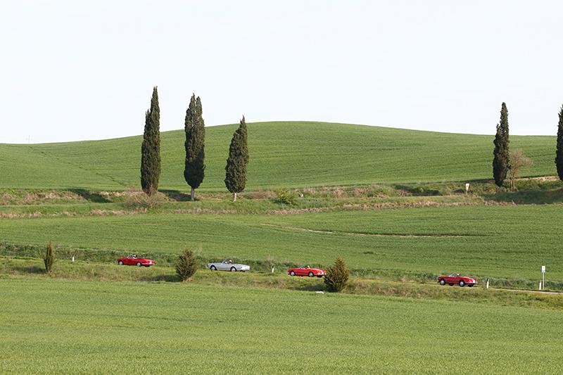 Alfa Romeo 2600 Giulia Spider cabrio cabriolet Toskana tuscany | Nostalgic Oldtimerreisen