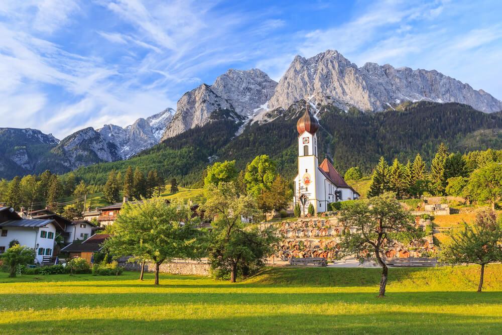 Grainau village Zugspitze top of Germany Dorf Deutschland Bayern Oberbayern Berge Mountains Alpen Alps | Nostalgic Oldtimerreisen